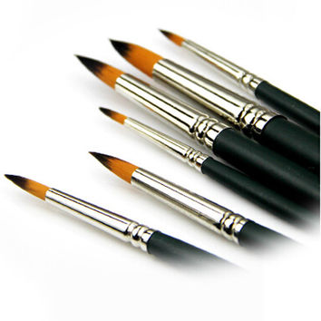 Watercoloring Painting Brushes Set of 6