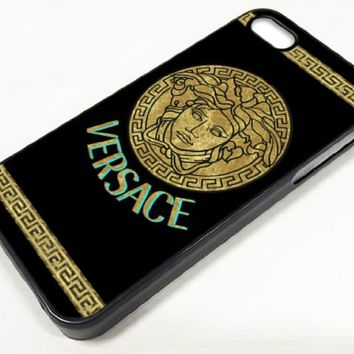 Frankcsn - New Customs Versace Medusa Pattern Case Cover for Iphone 4 , Hard Back Cover Case for Iphone 4s , Hard Shell Protector Back Cover Case for Apple 4g , Cell Phone Case + Free Gift