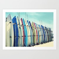 California surfboards Art Print by sylviacookphotography