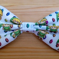 The Legend of Zelda,Mens Bow Tie,Boys Bow Tie,Zelda Bowtie.Girls Hair Bow.Wedding Bow Tie,Geeky Bow Tie,Nerd,Bow Tie Men
