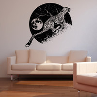 Vinyl Wall Decal Sticker Cheetah Running at Night #OS_AA1565