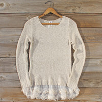 Lake Chelan Lace Sweater in Haze