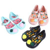 Mini melissa Girls Sandals Shoes New 2018 Hot Sale Girls Shoe Children Shoes Girls Sandals Chaussure Enfant Kids Shoe Furadinha