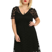 Royal Bones By Tripp Black Lace Dress Plus Size