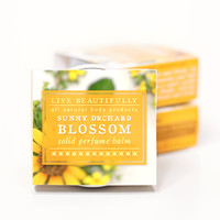 Sunny Orchard Blossom - All Natural Solid Perfume