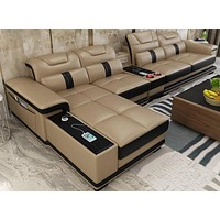 Sectional Comfort Leather Sofa For Home Furniture