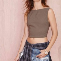 Nasty Gal High and Mighty Crop Top