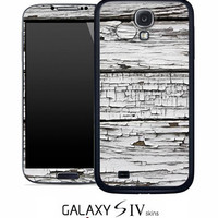 White Aged Wood Skin for the Samsung Galaxy S4, S3, S2, Galaxy Note 1 or 2