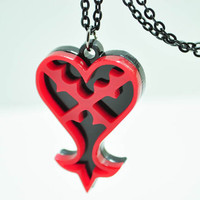 Kingdom Hearts Heart Emblem Pendant Necklace Sora Kairi Cosplay