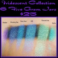 Iridescent Collection 6 Colors 5 Gram Jars by torik2009 on Etsy