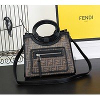 FENDI WOMEN'S FF ZUCCA CANVAS HANDBAG TOTE BAG SHOULDER BAG