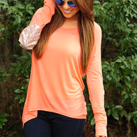 Sparkle In The Dark Top: Peach