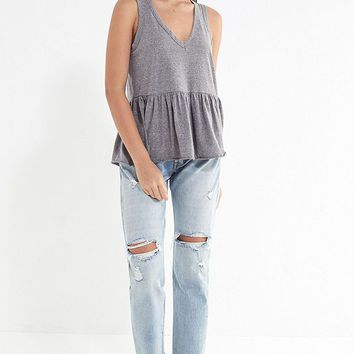Truly Madly Deeply V-Neck Peplum Tank Top   Urban Outfitters