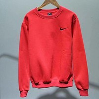 ''NIKE'' Fashion Casual Long Sleeve Sport Top Sweater Pullover Sweatshirt Red I