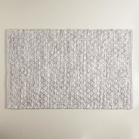 Heathered Gray and Ivory Bath Mat