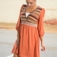 Pumpkin Carvin' Dress, Orange