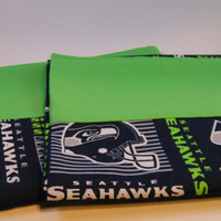 Seattle Seahawks  Pillow Case, 100% cotton fits standard or queen pillow, Go Hawks!!!!!
