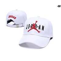 JORDAN Popular Couple Cool Embroidery Sports Sun Hat Baseball Cap Hat 1# White