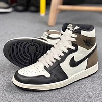 "Air Jordan 1 High OG ""Dark Mocha"" High Top Sneakers Basketball Shoes"