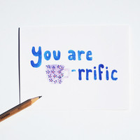 tea valentine cards (4) You are Tea-riffic thank you stationery notecard