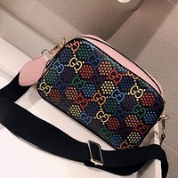 GUCCI X DISNEY 2020 Joint Color Printing Camera Bag Shoulder Bag Crossbody Bag