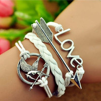 Handmade Hunger Games Letty Retro Inspired Mockingjay Bird Bracelet = 1931895620