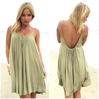 Melody Jersey Dress In Olive