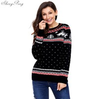 New autumn winter pullover sweaters women cute snowman ugly christmas sweater red christmas sweater new year sweater V1147