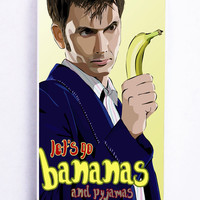 Doctor Who Lets Go Bananas for Iphone 5C Hard Cover Plastic