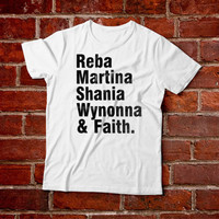90s Classic Country Ladies Tshirt-- Reba McEntire Martina McBride Shania Twain Wynonna Judd Faith Hill Simply Southern Country Music Shirt