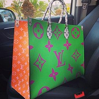 LV Louis Vuitton Hot Sale Printed Handbag Shoulder Bag OnTheGo Bag