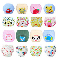 Baby Diapers/Children Reusable Underwear/Breathable Diaper Cover/Cotton Training Pants/Can Tracked
