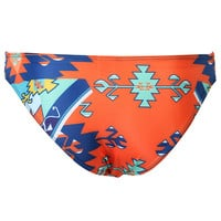 Multicolor Tribe Print Halter Tassels Bikini Top and Bottom