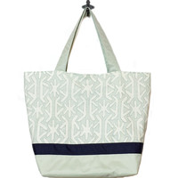 Teal Star | Navy Ribbon | Essential Tote