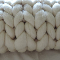 SALE! Chunky Knit Blanket, Australian merino, wool throw, chunky blanket.