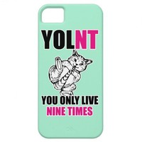 YOLNT You Only Live Nine Times Cat iPhone 5 Case from Zazzle.com