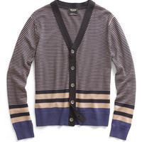 Camel Striped Cardigan