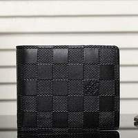 Tagre™ Boys & Men Louis Vuitton Leather Print Purse Wallet