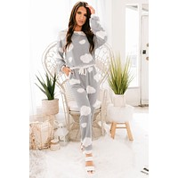 Up In The Clouds Knit Set (Grey/ Ivory)