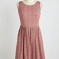 Mid-length Sleeveless A-line Indie Swing of Things Dress
