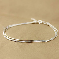 Simple & Elegant Silver Bracelet, Sterling Bracelet, Teenage, Valentine, Bridemaid, Bridal, Wedding, Christmas Gift