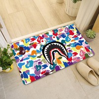 SHARK MOUTH - BAPE RAINBOW CAMO FLOOR MAT