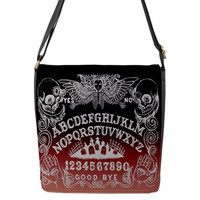 Ombre Ouija Board Sm Messenger Bag with removable flap