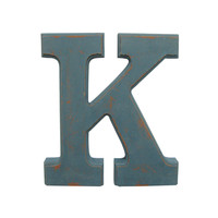 Make Market™ Blue Vintage Letter K, 5 7/8""