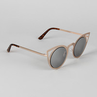 Sleek Metallic Cat Eye Sunglasses