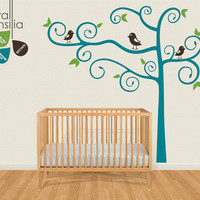 """Nursery Tree Wall Decal Wall Sticker - Tree Wall Decal - Tree Decals - Large: approx 84"""" x 86"""" - K016"""