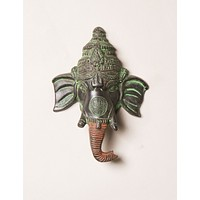 Antiqued Ganesh Wall Ornament