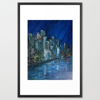 Waterfront Abyss Framed Art Print by RokinRonda | Society6