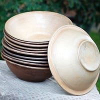 Pottery Soup Bowls Set. Ceramics. Dinnerware. Anniversary Gifts. Rustic Wedding Or Housewarming Gift By Three Snails. Free Shipping!