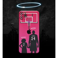 MAMBA // Hot Coral - Non-Profit Memorial Skin-Kit compatible with the Apple iPhone 12, 12 Pro Max, 12 Mini, 11 Pro or 11 Pro Max (All iPhones Available) (All iPhone versions available)
